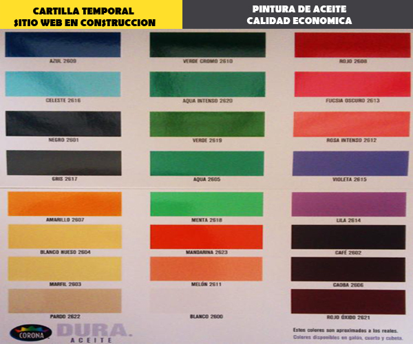 Cartilla de colores de pinturas tropical imagui for Cartilla de colores